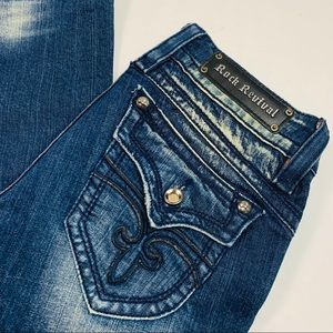 Rock Revival Gwen Easy Bootcut Stretch Jeans 29x33
